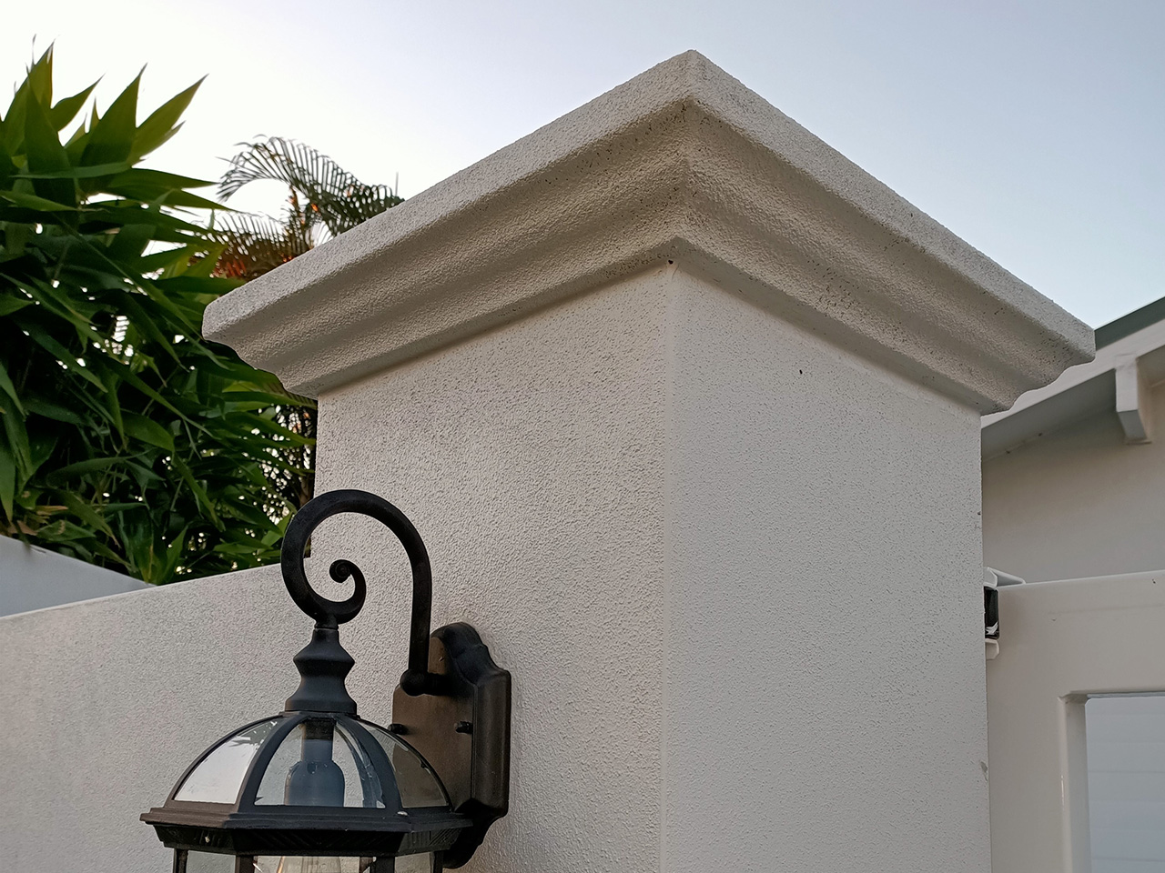 polystyrene concrete look pier caps and fence capping gold coast brisbane