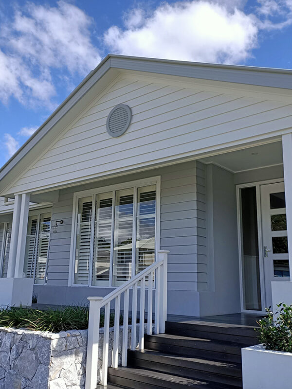 Hamptons style fake vent moulding house fascia gold coast australia