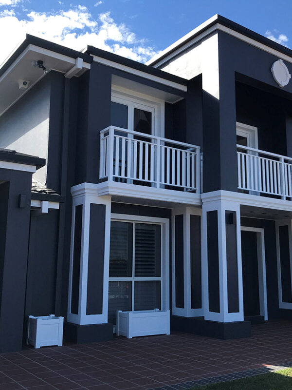 Home fascia transformation with decorative mouldings gold coast Australia