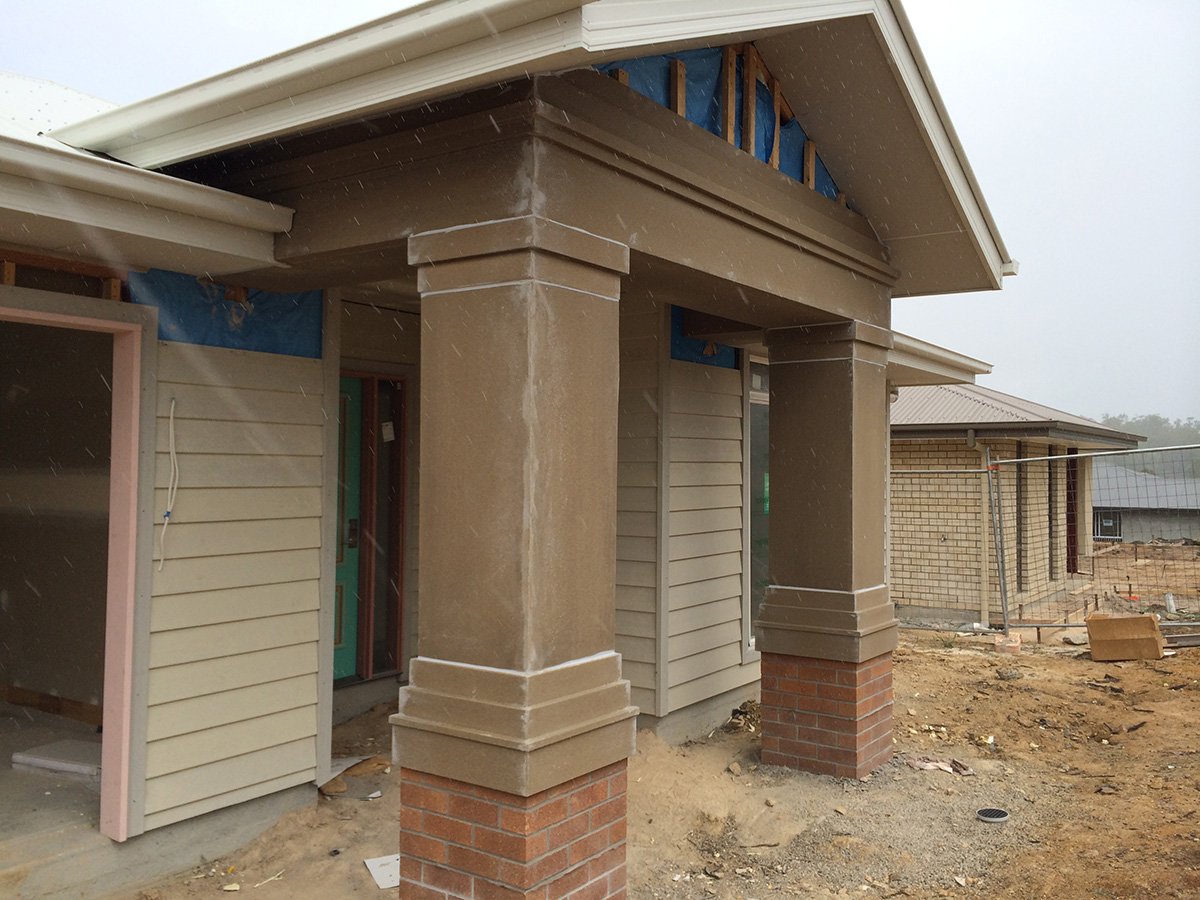 Australian colonial style front door porch and pillars gold coast
