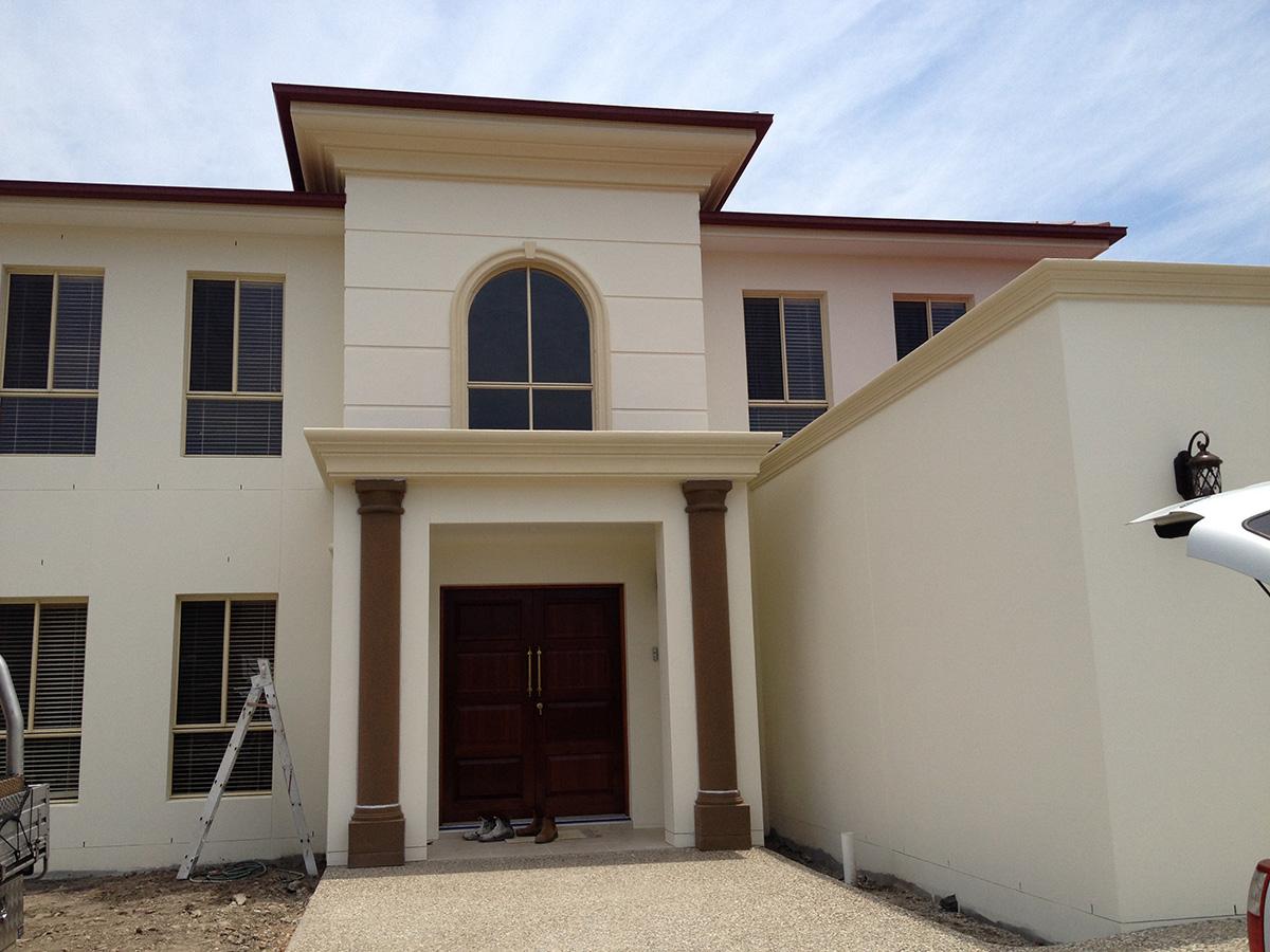 English manor home styled entrance pillars columns gold coast