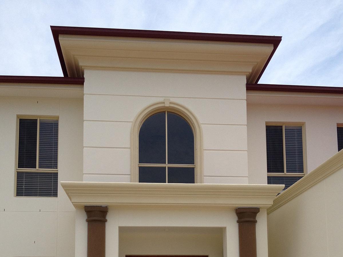 Georgian style external cornice and fascia panelling gold coast