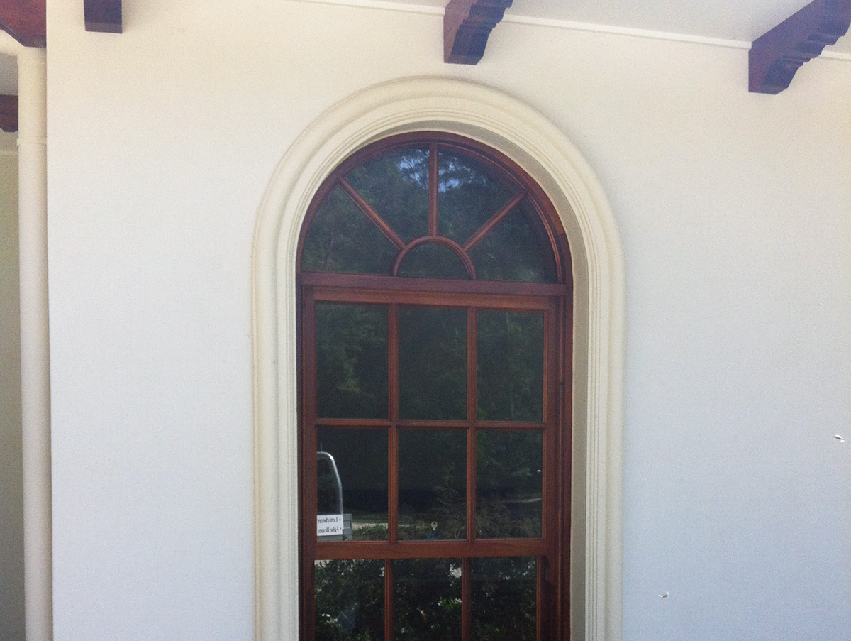 Georgian style external rounded arched window surround gold coast