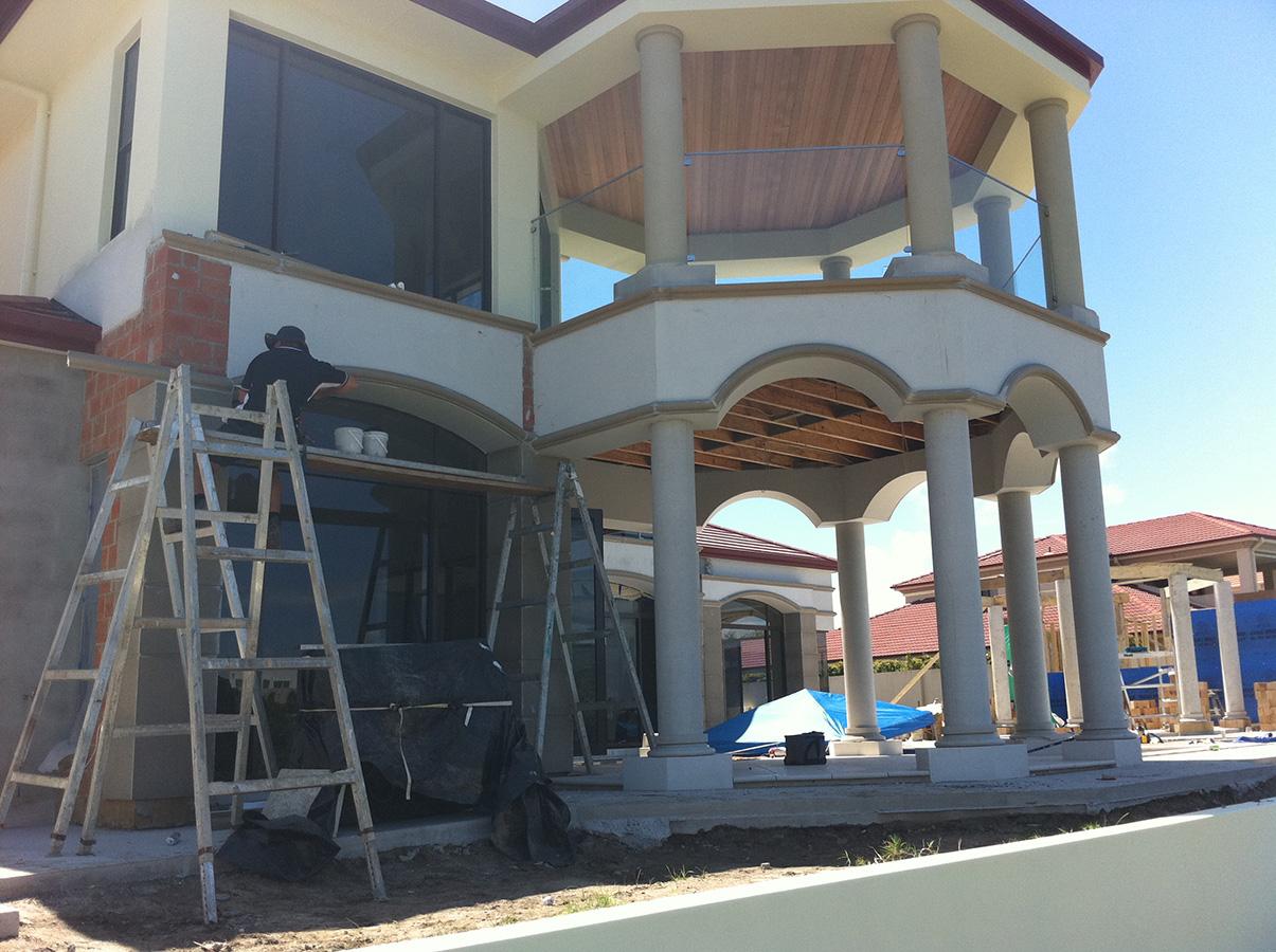 Mediterranean styled home balcony and fascia styles gold coast