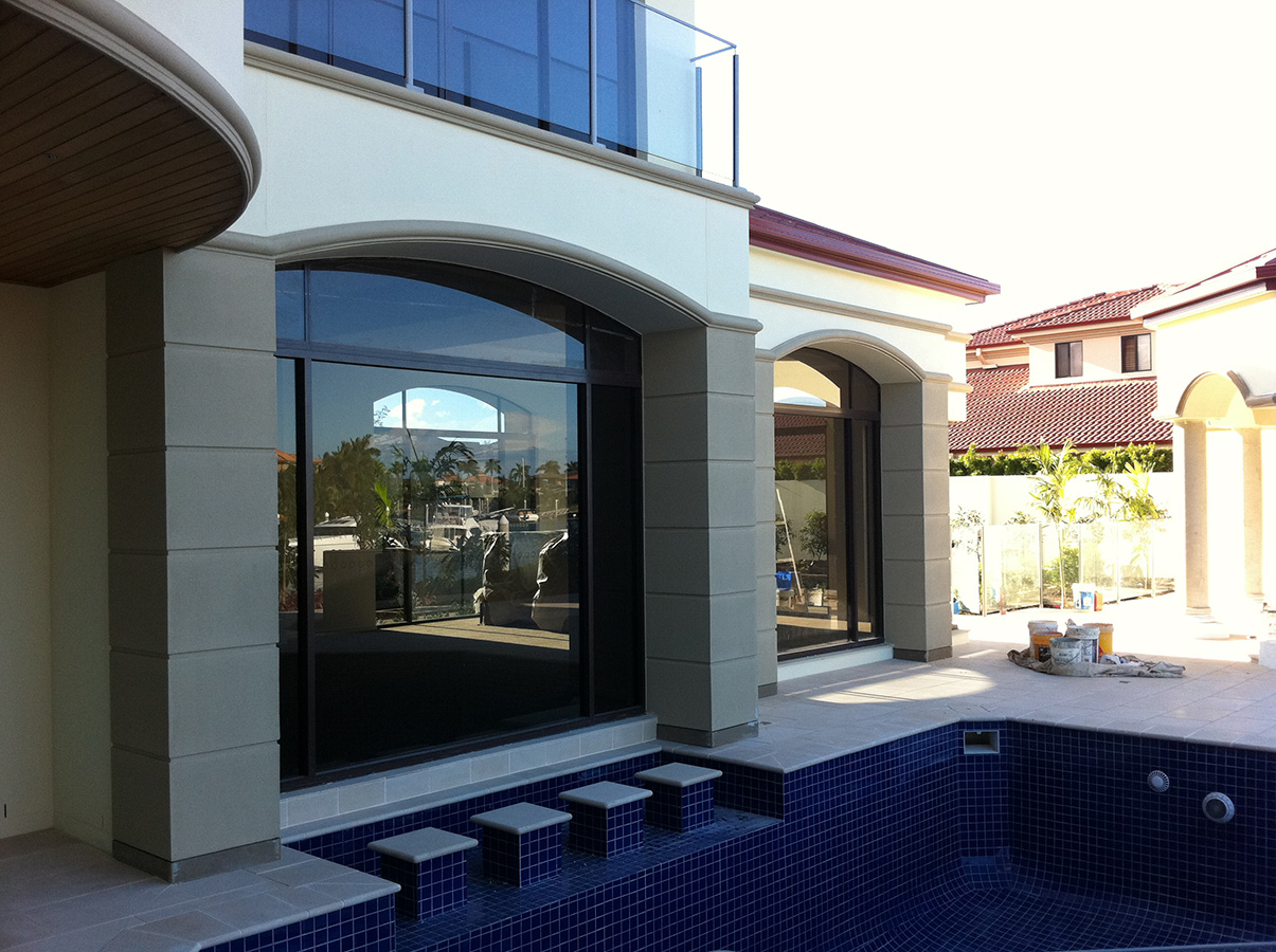Mediterranean styled wall features and pool areas gold coast