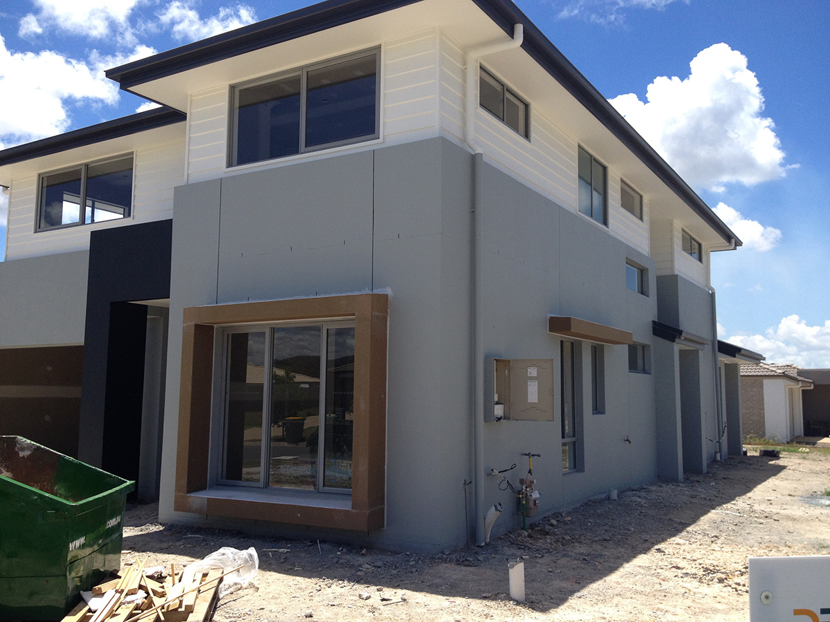 Modern exterior window surround styling features gold coast