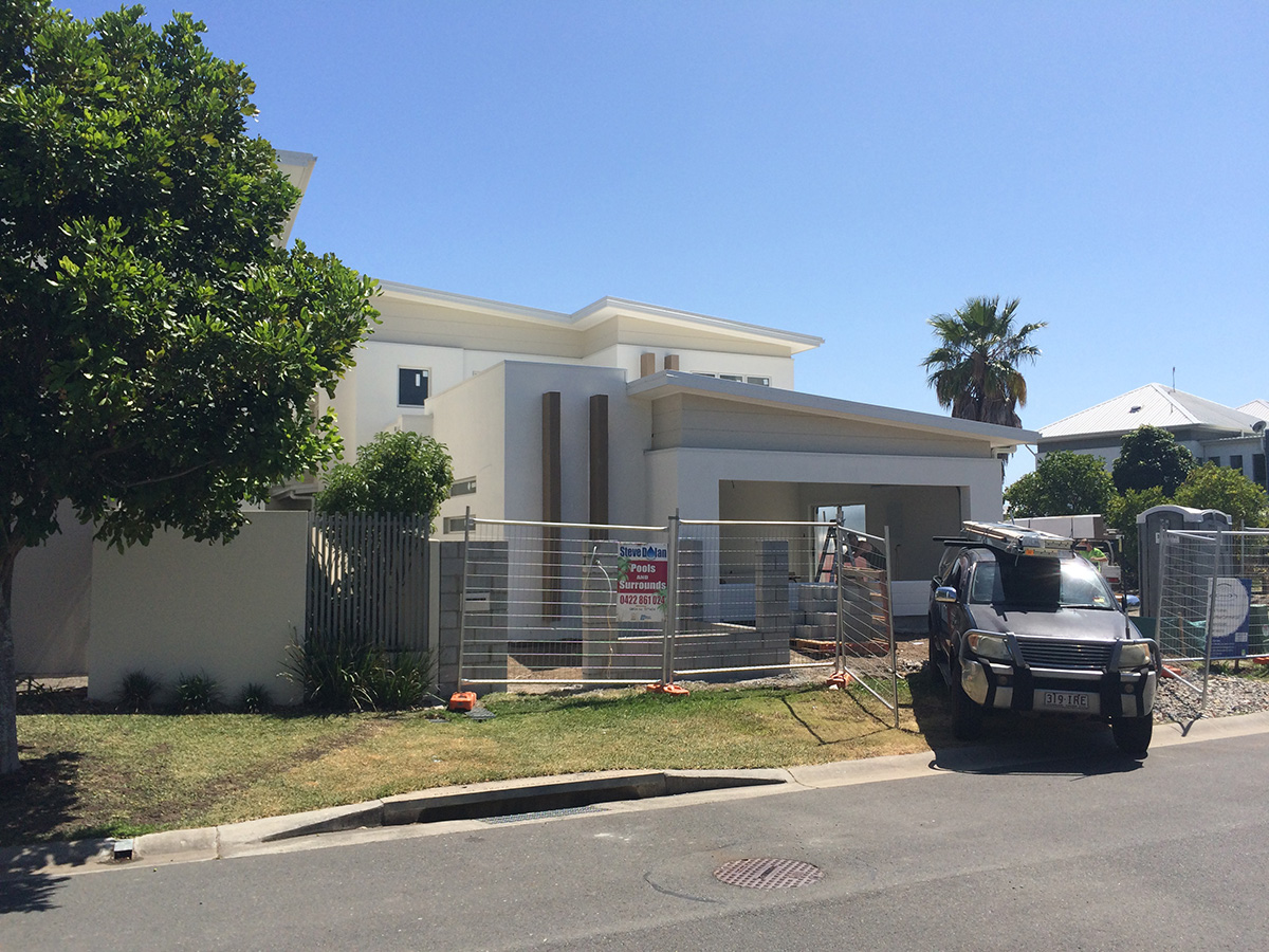 contemporary exterior home features to go with skillion roof line gold coast