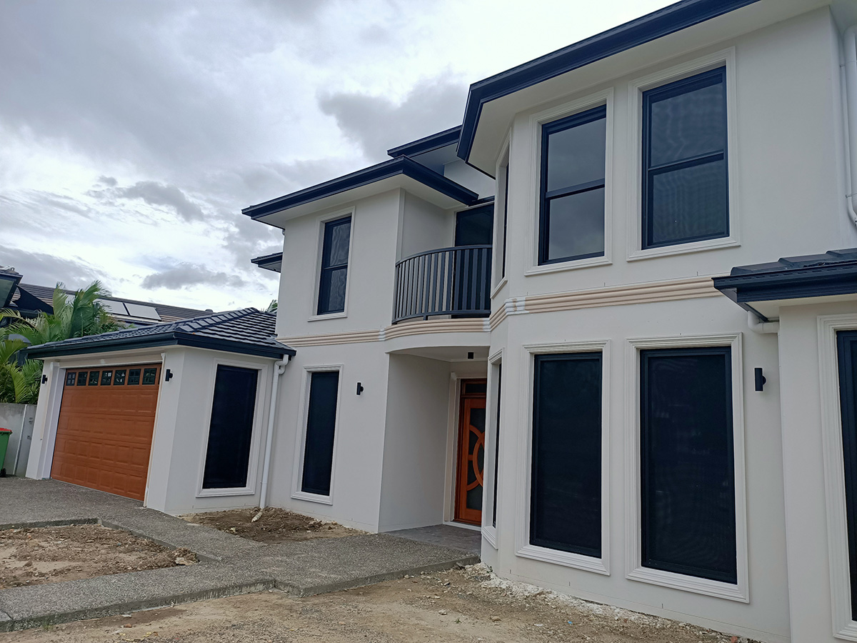 stylish contemporary modern home exterior features fascia gold coast